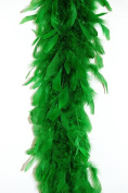65 Gramme Chandelle Feather Boa - KELLY GREEN 2 Yards