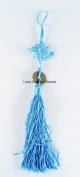 25cm LUOS Feng Shui Coin Blue Chinese Knot - for wealth and health - TL014