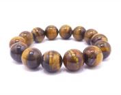 Tiger Eye Beads Stretch Bracelet with Flexible Free Zoom