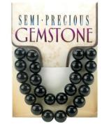 10mm Gemstone Round - 11PK/Black Stone