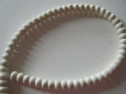 White Magnesite 6x4mm Rondell Beads 16""