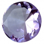 Giant Purple 60 Mm Cut Glass Diamond Jewel Paperweight