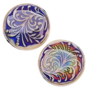 Mirage Colour Changing Mood Beads - Fountain Fern Design - 23.5mm Diameter