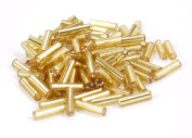 Silver Lined 0.6cm Seed Bead - Gold