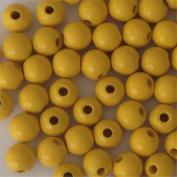 12mm Round Wood Beads (50pc) - Yellow