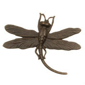 Vintaj Natural Brass Stamping Art Deco Dragonfly Pendant 35 x 47mm