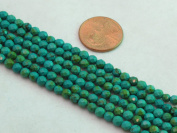 Nature Chinese Turquoise Round Faceted Green 4mm 15'' Per Strand 100pcs