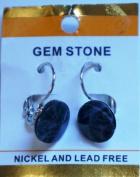Semi-Precious Stone Blue Lapis Earrinng