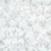 450 White Star Pony Beads