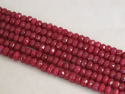 Mountain Jade (Dyed) Red Colour 5x8mm Rondelle 76pcs 15.5'' Per Strand
