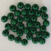 12mm Round Wood Beads (50pc) - Xmas Green