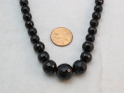 Black Onyx Gradual Faceted Beads Round 41cm Per Strand