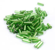 Silver Lined 0.6cm Seed Bead - Green