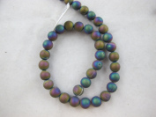 46pcs Druzy Agate Round 8mm 15.5''strand Multi-colour Finding Charms Necklace Bracelet Beads