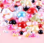 LOVEKITTY -- 800 pc Mixed Colours Mixed Sizes Flat back Pearl Cabochons by Lovekitty