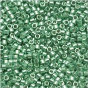 Miyuki Delica Seed Beads 11/0 - Galvanised Green DB414 - 7.2 Grammes