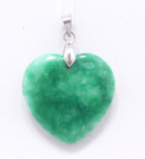 Chinese Heart Shaped Natural Jade Pendant