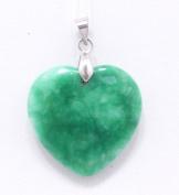Chinese Heart Shaped Natural Jade Pendant