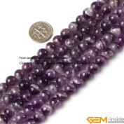 Gem-Inside 6mm 8mm 10mm 12mm 14mm Round Mixed Colour Amethyst Beads Strand 15 Inches