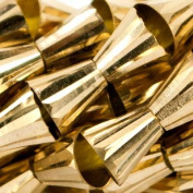 7x4mm Brass Fluted Cone Beads, 8 inch