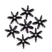 18mm Black Starflake Beads