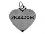 Sterling Silver Freedom Charm