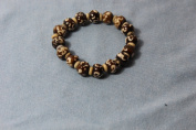 Tibetan Buddhist Om Scripted Wrist Mala/ Bracelet for Meditation
