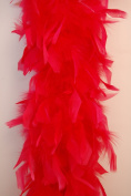 80 Gramme Chandelle Feather Boa - BLOOD RED 2 Yards