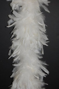 80 Gramme Chandelle Feather Boa - EGGSHELL 2 Yards