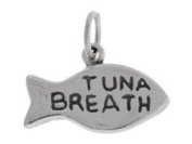 Sterling Silver Tuna Breath Fish Cat Charm