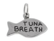 Sterling Silver Tuna Breath Fish Cat Charm
