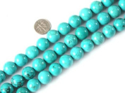 "4mm 6mm 8mm 10mm 12mm 14mm round gemstone natural turquoise beads strand 15"" jewellery making beads"