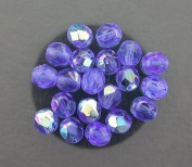 20 SAPPHIRE AB CZECH FIRE CRYSTAL FACETED BEADS 6MM