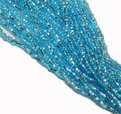 Light Aqua Blue Silver Lined Czech 8/0 Glass Seed Beads 1 Full 12 Strand Hank Preciosa Jablonex