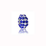 Charm Factory Sapphire Rhinestone Bead
