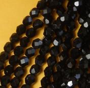 300 Czech Faceted Firepolished 6mm Jet Black Glass Beads 1/4 Mass