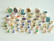 Flowers Mix of Ceramics Beads.50 Pieces