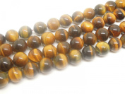 1Strand 7.5inch Long Polished Natural Gemstone Yellow Tiger Eye 10mm Round Bead Strand Jewellery Supplies DIY Accessaries Friend Gift