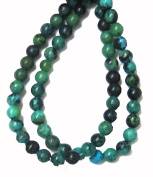 Bead Collection 40436 Australian Green Jasper Semi Precious Beads, 18cm