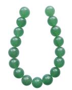 Tennessee Crafts 1138 Semi Precious Dark Green Aventurine Beads, Round, 12mm