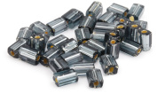 Beaders Paradise LTB6 Czech Glass Black Diamond Silver Lined 3-1/2 by 5mm Flat Rectangles in a Tube