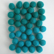 Felted Wool Bead 40 Piece Colour Packs- Green & Turquoise Mix