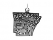 Sterling Silver Arkansas State Charm