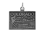 Sterling Silver Colorado State Charm