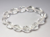 Clear Crystal Bracelet good for energy & healing- J073