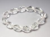 Clear Crystal Bracelet good for energy & healing- J073