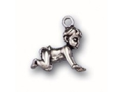Sterling Silver Baby Crawling Charm