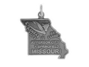 Sterling Silver Missouri State Charm