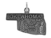 Sterling Silver State Charm Oklahoma