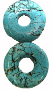 Bead Collection 40151 Semi Precious Dyed Turquoise Howlite 35 Beads, 13cm